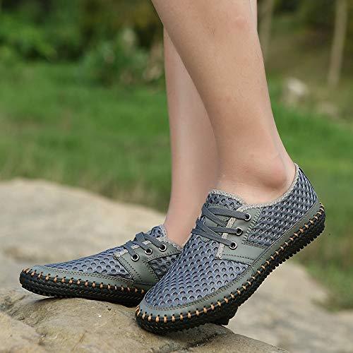 MOHEM Men's Poseidon Casual Water Shoes Mesh Walking Quick Drying Hiking Shoes(3166Coffee46)