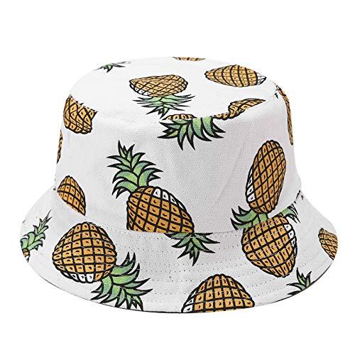 wopiaol Sombrero Primavera y Verano Fruta piña Desgaste de Doble Cara Sombrero de Pescador Sombrero de Lavabo Viaje de Ocio Sombrero para el Sol