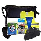 SafeTravel Kit de sécurité routière en cas de panne ou d'urgence en hiver Or