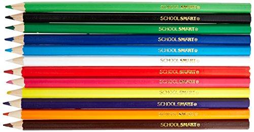 School Smart Colored Pencil Classroom Pack, Assorted Colors, 480 Pencils