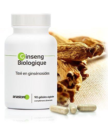 GINSENG ROUGE BIOLOGIQUE * 200 mg / 90 gélules végétales * Titré à 15% en ginsénosides totaux * Cardiovasculaire, Energie, Équilibre émotionnel, Vitalité