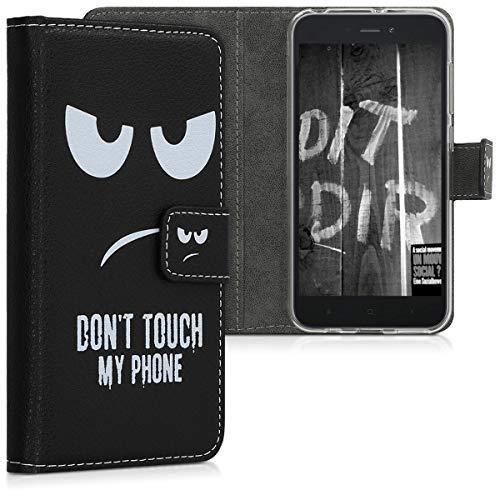 Carcasă kwmobile compatibilă cu Xiaomi Redmi Go - Husă portofel magnetic cu suport în piele - Carcasă suport pentru card ...