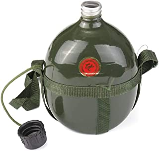 Water Bottle 1.5L Army Aluminum Outdoor Military Canteen Cup Sport Tactical Cycling Portable Bicycle