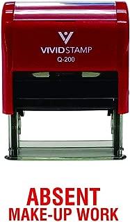 Absent Make-up Work Teacher Self Inking Rubber Stamp (Red Ink) - Medium
