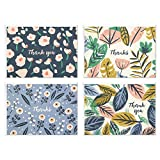 """Let your friends and family know you appreciate them with this boxed set of lovely thank you cards, appropriate for all occasions. Classic folded cards feature 4 modern floral designs (12 of each design), and simple """"thank you"""" or """"thanks"""" lettering...."""
