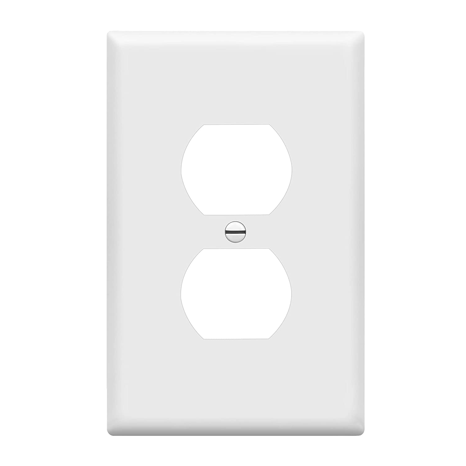 ENERLITES Duplex Receptacle Outlet Wall Plate, Electrical Outlet Cover, Mid-Size Size 1-Gang 4.88