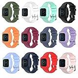 ZSZCXD Compatible for Garmin Vivofit jr 3 / Garmin Fit jr 3 Bands, Colorful Soft Silicone Replacement Sport Wristband for Kids Boys Girls Men Women (5.1'-7.5' Wrist, 12 Colors)