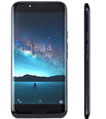 DOOGEE BL5000-5.5 Zoll FHD Android 7.0 4G Smartphone (5050mAh Batterie), DREI Kameras (8MP + 13MP + 13MP), MTK6750T Octa Core 4GB RAM 64GB ROM, Schnelle Ladung - Schwarz