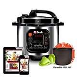 Geek Robocook Automatic 5 Litre Electric Pressure Cooker with 11 in 1 Function, Feather Touch Preset...