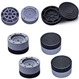 Ygapuzi Soporte para lavadora con cancelación de ruido y golpes, juego de 4 almohadillas antivibración para lavadora y secadora, base universal y soporte para frigorífico, muebles, electrodomésticos