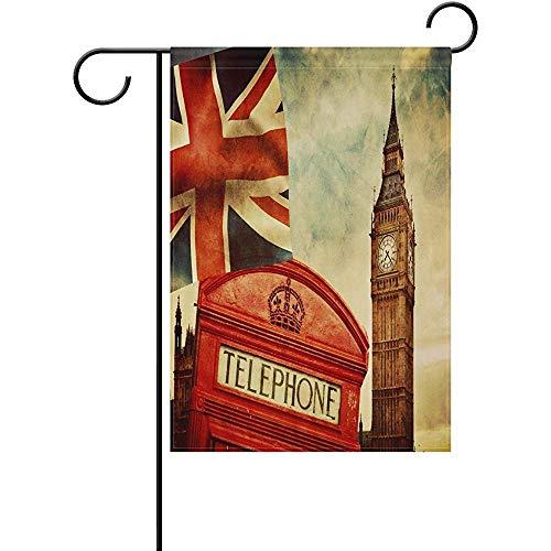 jiaxingdalin Haus-Fahne Polyester-Garten-Flaggen-Big Ben London für Hochzeitsfest außerhalb des Garten-Yards