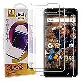 Guran 4 Paquete Cristal Templado Protector de Pantalla para Wileyfox Spark X Smartphone 9H Dureza Anti-Ara?azos Alta Definicion Transparente Película
