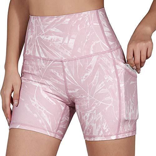 URIBAKY - Leggings estampados para mujer, ideales para adelgazar, fitness, jogging, yoga rosa S