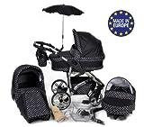 Baby Sportive - Landau pour bébé + Siège Auto - Poussette - Système 3en1, incluant sac à langer et protection pluie et...