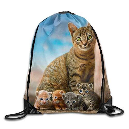 Etryrt Prämie Turnbeutel/Sportbeutel, Cats Drawstring Backpack Rucksack Shoulder Bags Training Gym Sack for Man and Women