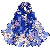 Moent Bufanda Moda Mujeres Peach Blossom Impresión Larga Suave Bufanda Bufanda Señoras Chal Bufandas