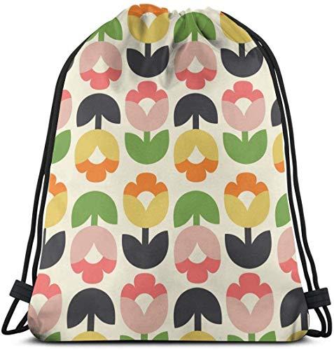 Mochila con cordón School Daypacks Drawstring Backpack Tulip Bloom Wrap Crop Canvas Bulk Sackpack for Men Women String Sports Gym Bag