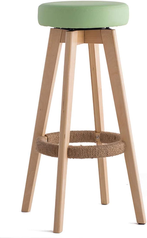 Bar Chair Bar Chair Stand Household Solid Wood Bar Stand Modern Simple redary Creative European Chair 65.5 cm High 4 Carl Artbay Strong and Practical