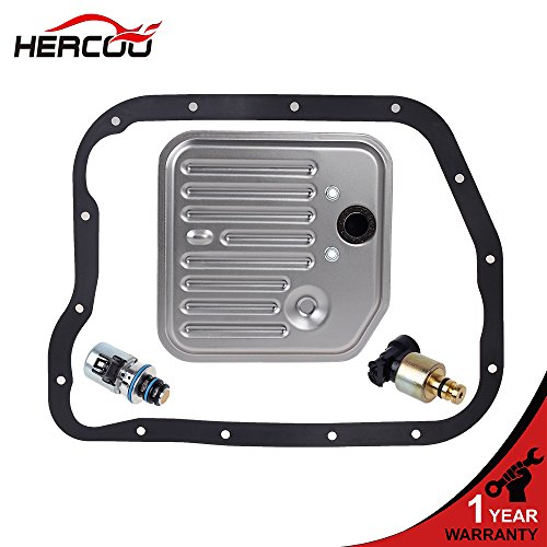 HERCOO Governor Pressure Sensor and EPC Solenoid fits A500 42RE 44RE Transmission with Gasket Filter Kit Compatible with 1998-1999 Jeep Grand Cherokee Dodge Dakota