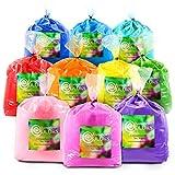 Chameleon Colors Color Powder, 10 Colors of Holi Powder, 50 Pounds (5 Pounds per Bag), Pack of 10