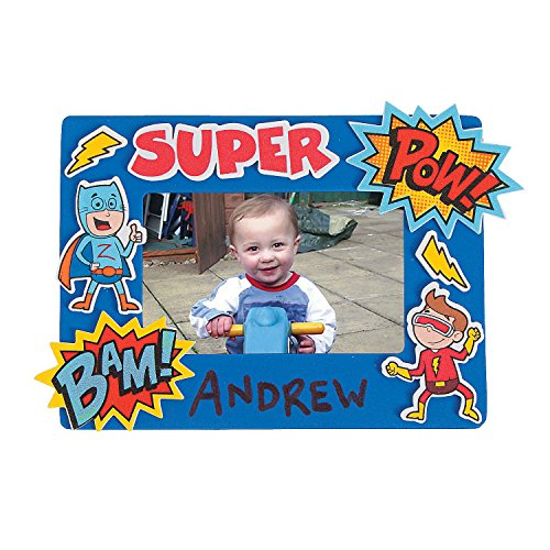 Superhero Picture Frame Ck - Crafts for Kids and Fun Home Activities