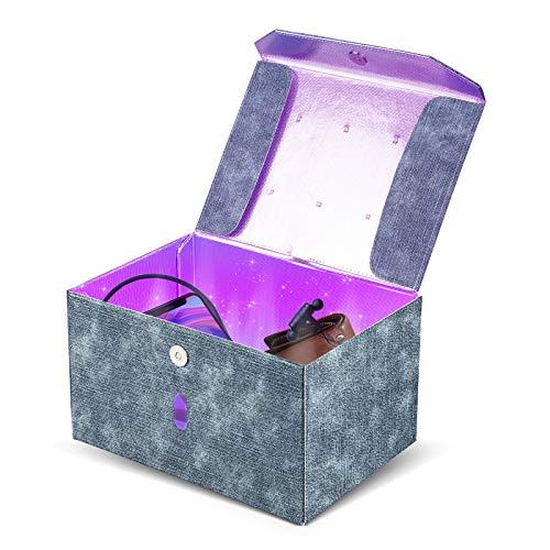 Esterilizador UV Desinfección UVC Portátil Caja Ultravioleta Lámpara 99% de Eficiencia Esterilización en 3 Minutos Utilizada Para Teléfonos Móviles Juguetes Movil Manicura etc.