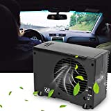12V Portable Air Cooler, Car Truck Cooling Fan Water Ice Air Evaporative Conditioner Desuperheater with Adjustable 2 Speeds 7.9x 3.7x 6.9in