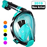 WSTOO Full Face Snorkel Mask,Advanced Safety Breathing System Allows You to Breathe...