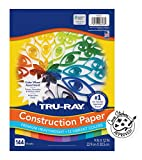 """Tru-Ray Color Wheel Construction Paper, 9""""x12"""", Assorted 144 Sheets"""