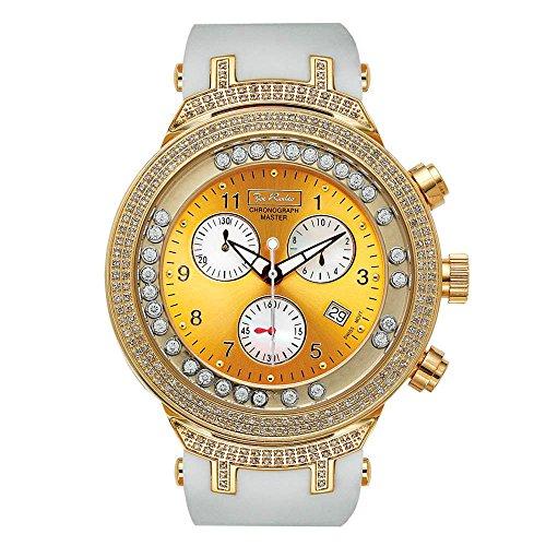 Joe Rodeo Diamante Reloj de Hombre–Master Oro 2.2Ctw