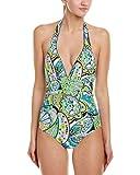 Trina Turk Women's V-Neck Halter One Piece Swimsuit,...