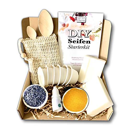 Seife selber machen, DIY Set von spreetherm inkl. veganer Kernseife, Seifenbeutel uvm.