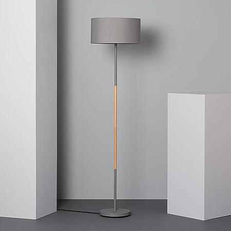 LEDKIA LIGHTING Lampadaire Silinda 1595x400x400 mm Gris E27 Métal pour Décoration Salon, Chambre, Cuisine