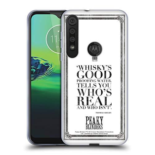 Officiële Peaky Blinders Whisky's Goed Typografie Soft Gel Case Compatibel voor One Macro/Moto G8 Play