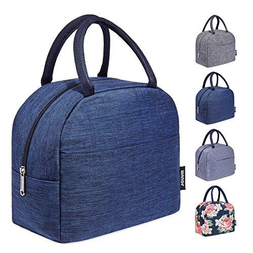 WANDF Isoliertasche Lunchtasche Leicht Picknicktasche Picknick-Handtasche für Arbeit Schule Kinder Baby Babyfläschchen verbessern Isolierung (Blau New)