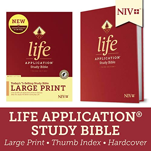 Compare Textbook Prices for Tyndale NIV Life Application Study Bible, Third Edition, Large Print Hardcover, Indexed, Red Letter – New International Version – Large Print Study Bible for Enhanced Readability Large type / Large print Edition ISBN 9781496443878 by Tyndale