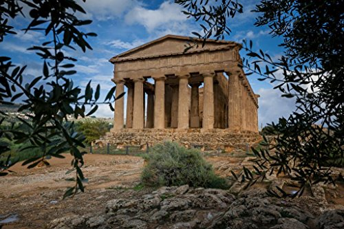 Valley of The Temples Agrigento Sicily Italy Photo Photograph Cool Wall Decor Art Print Poster 36x24