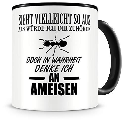 Samunshi® Ich denke an Ameisen Tiere Tasse Kaffeetasse Teetasse Kaffeepott Kaffeebecher Becher