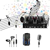 V8 Live Sound Card Multiple Mixer USB Audio Effects, USB Audio Interface Intelligent Volume Mic for Live Recording Home KTV Karaoke, Voice Changer Funny Voice Chat