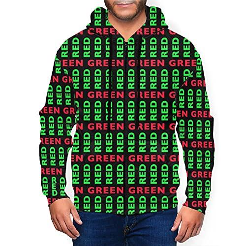 Sudaderas con capucha para hombre suéter rojo es verde sudadera con capucha 3d impreso chaqueta cremallera jersey camisa