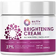 ADVANCED FORMULATION: Clinically researched ingredients that are proven to deliver skin lightening effects. Use to treat Melasma, Hyperpigmentation, sun spots, liver spots, or as a complexion brightening cream. It's produced in a state-of-the-art fac...