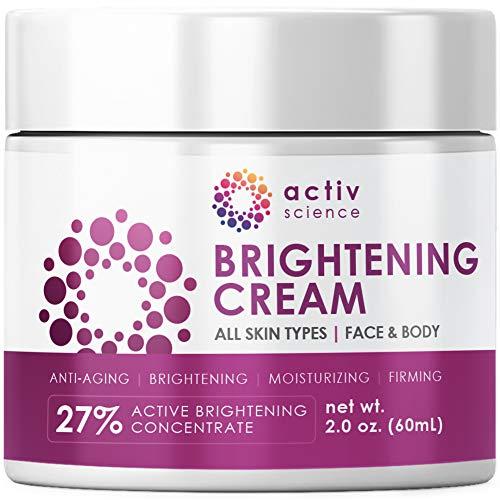 ACTIVSCIENCE Whitening Cream - Powerful Skin Lightening Cream for Face & Body. Dark Spot, Melasma &...