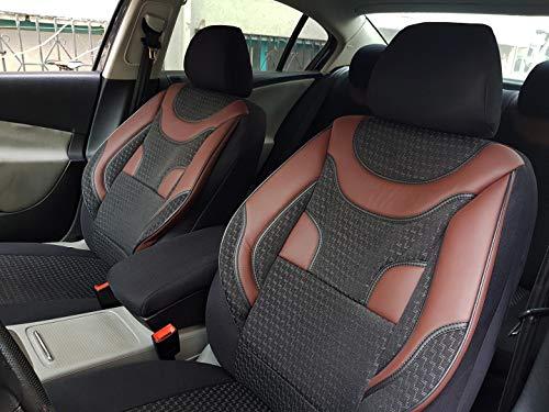 Sitzbezüge K-Maniac für Jeep Renegade | Universal schwarz-rot | Autositzbezüge Set Komplett | Autozubehör Innenraum | NO1924468 | Kfz Tuning | Sitzbezug | Sitzschoner