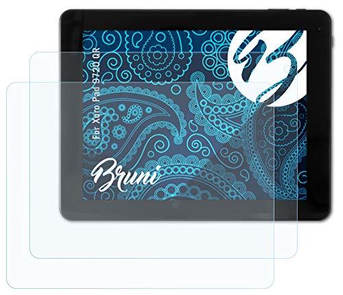 Bruni Schutzfolie kompatibel mit Xoro Pad 9720 QR Folie, glasklare Bildschirmschutzfolie (2X)