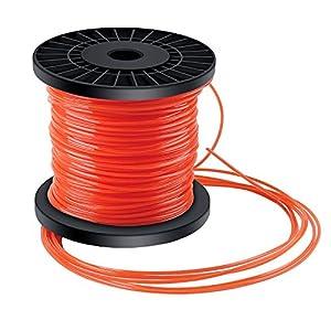 Forever Speed Hilo desbrozadora Nylon Trimmer Strimmer Line Cable String Cable para línea de Hierba 5-Borde Diámetro 2.4 mm x 100 Metros - Rojo Anaranjado