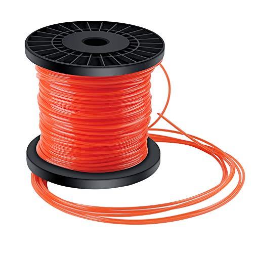 Trimmerfaden Trimmer Schnur Rasen Mähfaden 5-kant Nylon Rasentrimmer Faden Durchmesser 2,4 mm x 100 m Orange Rot