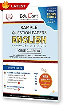 Educart CBSE Class 10 English Language & Literature Sample Question Papers 2021 (As Per 9th Oct CBSE Sample Paper) by [Educart]