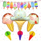 Ice Cream Party Decorations Ice Cream Balloons Garland Banner Hanging...