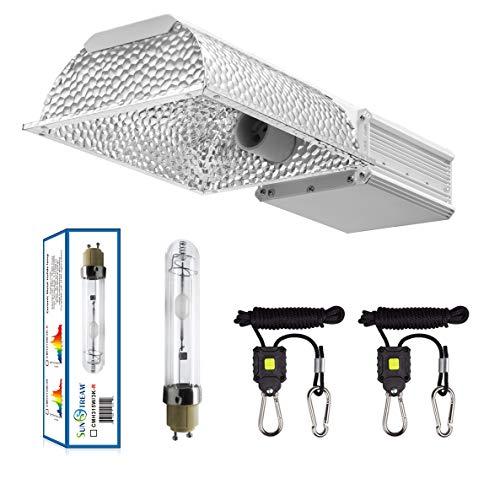 SunStream 315 W Keramik-Metallhalogenid CMH Wachstumslampe mit 3100 K Halogen-Leuchtmittel, Vollspektrum CMH Hydrokultur-Wachstumslicht und Aufhängungssystem