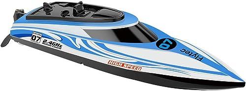 AIOJY Haute vitesse Ferry Bateau à moteur télécomhommedé 2.4G modèle de l'eau Avion jouet cycle de l'eau navire sur réinitialiser enfant adulte lumières Couleurées Navires charge de la concurrence sous-ma